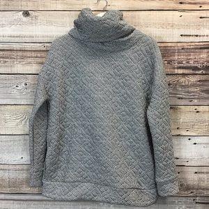 GapFit Jacquard Pullover Medium Space Dye Gray